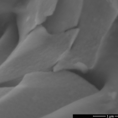 SEM IMAGE OF FOIL COATED BY ITO